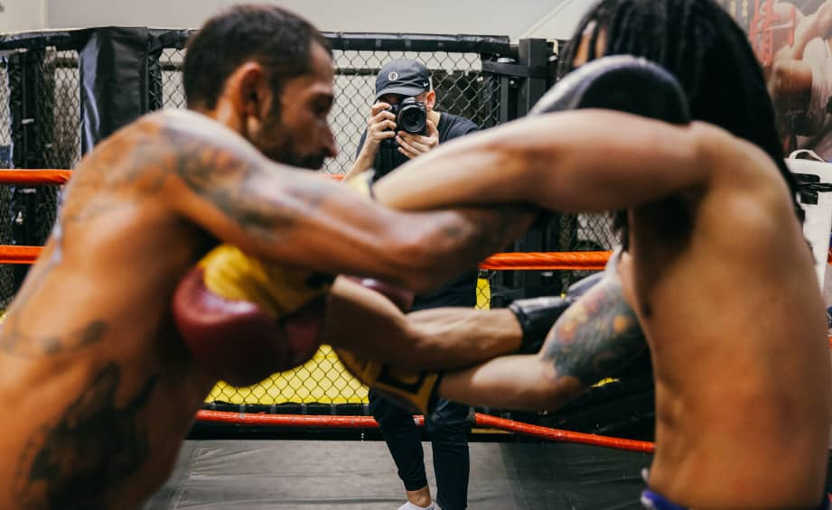 When you're photographing fighters, it pays to embrace chaos