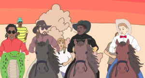 "Watch the animated video for Lil Nas X's ""Old Town Road"" remix with Young Thug, Mason Ramsey, and Billy Ray Cyrus"