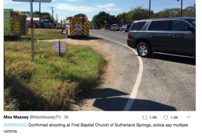 Over 25 people killed in Texas church shooting