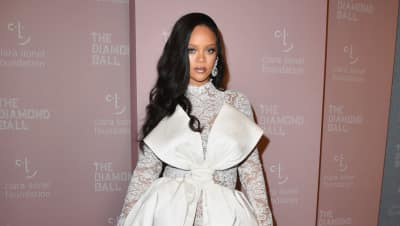 Rihanna has arrived to her fourth annual Diamond Ball
