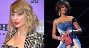 Taylor Swift now tied with Whitney Houston for women with the most weeks at No. 1