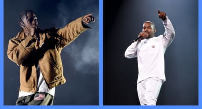 Kanye West takes the stage at Travis Scott's Astroworld Festival