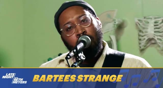 "Watch Bartees Strange perform ""Boomer"" on Late Night with Seth Meyers 1"