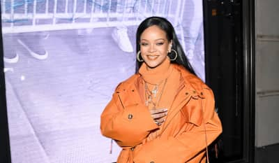 Rihanna is spending Valentine's Day in the studio with The Neptunes
