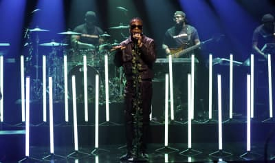 "Watch Burna Boy perform ""Collateral Damage"" and ""Anybody"" on Fallon"