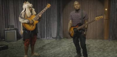 Watch Thundercat Play In A Bass-Off Against Robot Hannibal Buress On The Eric Andre Show