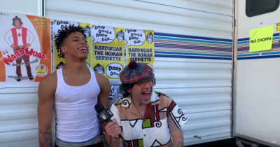 Watch Nardwuar's interview with NLE Choppa and his mom