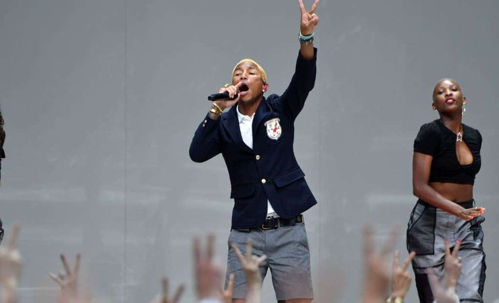 Pharrell wants you to support gender equality and also buy his new line of shoes