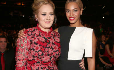 Actually, there is no Beyoncé and Adele collaboration