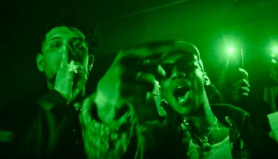 "Octavian and Smokepurpp link up in night vision for their ""Take It Easy"" video"