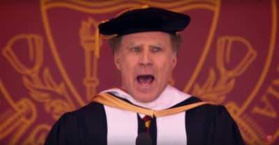 "Watch Will Ferrell End Commencement Speech By Singing ""I Will Always Love You"""