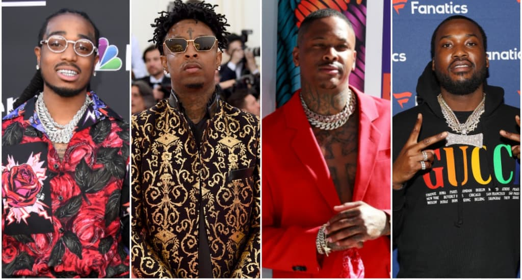 """b4eef7f1c76e Quavo, 21 Savage, YG and Meek Mill join Mustard on """"100 Bands"""" 