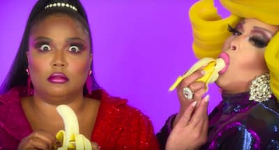 "Lizzo teams with Ru Paul's Drag Race queens for vibrant ""Juice"" video"