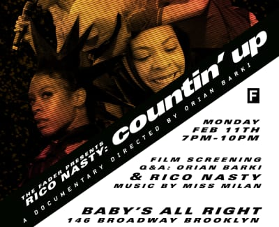 RSVP to a screening of The FADER's new Rico Nasty documentary COUNTIN' UP