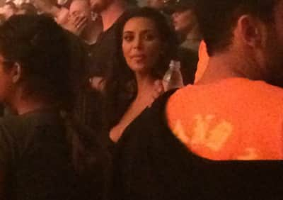 Kim Kardashian Is In The Crowd With Fans At Kanye West's Saint Pablo Tour Show In Toronto