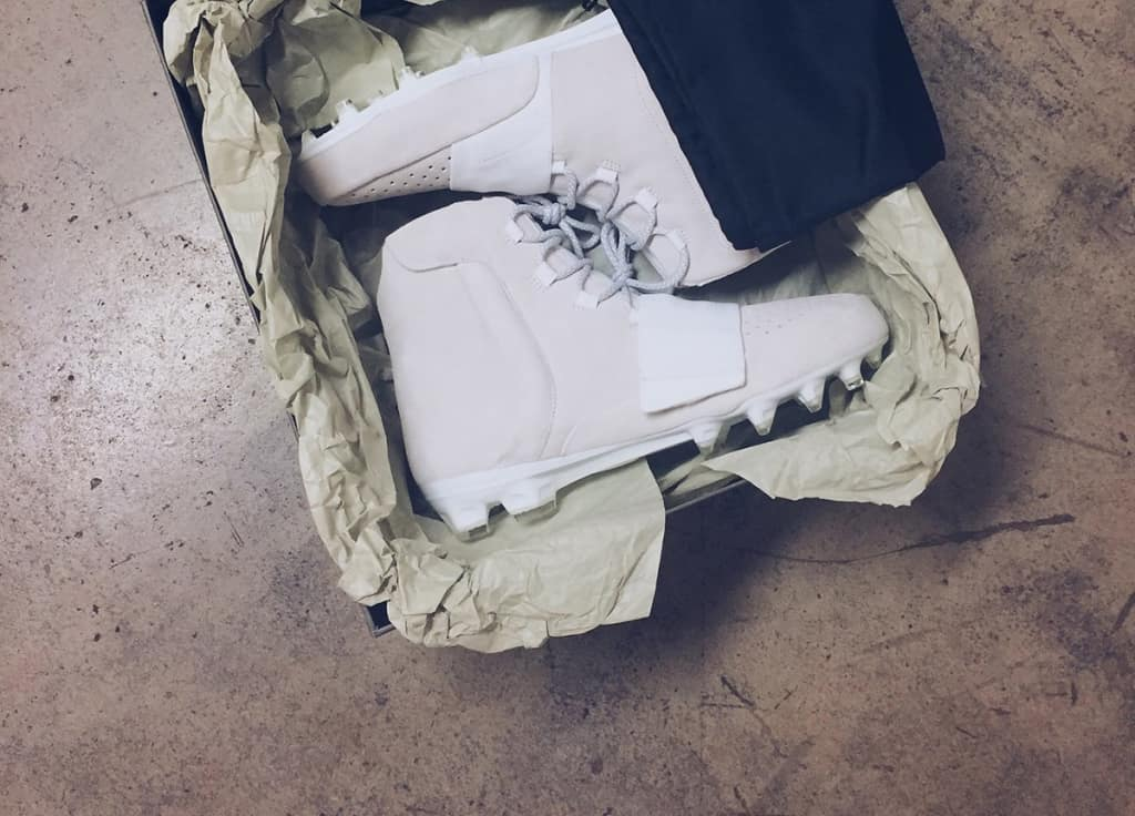 44caa3145bce75 Kanye West And Adidas Gave Von Miller A Pair Of Yeezy Football Cleats