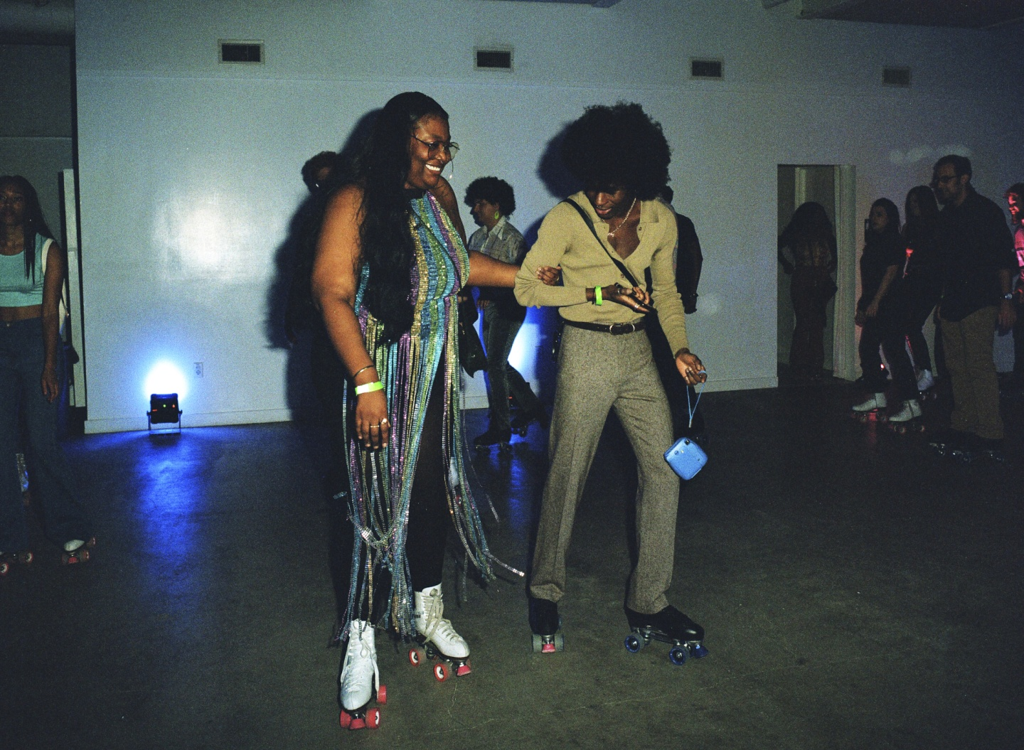 See the lush looks from a '70s-themed Brooklyn skate party