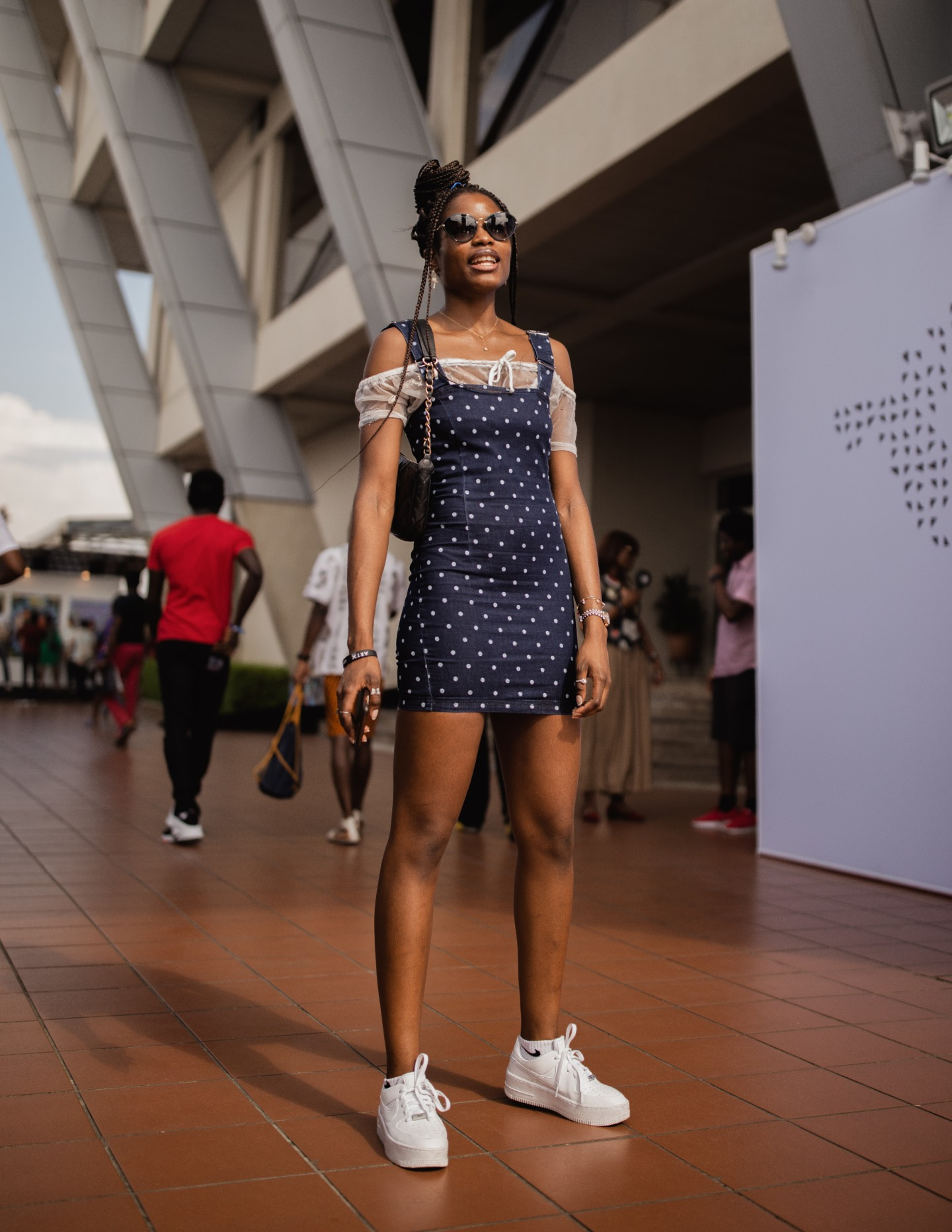 At ART X Lagos, dusk gave simple solids and bold patterns a whole new life