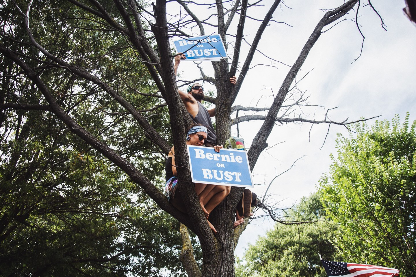 This Is What It Was Like Outside The Democratic National Convention
