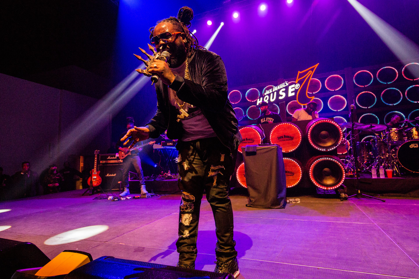 See Photos From T-Pain's Electric Live Set At House No. 7