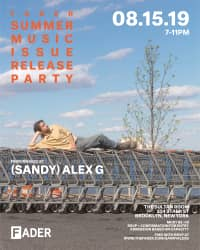(Sandy) Alex G to perform live this Thursday at The FADER's Summer Music Issue Release Party