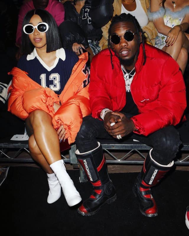 d8b0b731fe380e Cardi B And Offset Were The Cutest Part Of New York Fashion Week. Rap s  first couple showed up to Rihanna s Fenty x Puma show ...