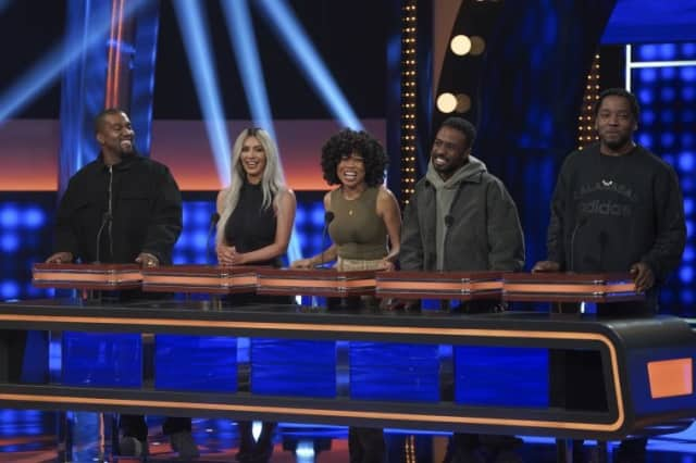 here s the preview for kanye west s celebrity family feud appearance