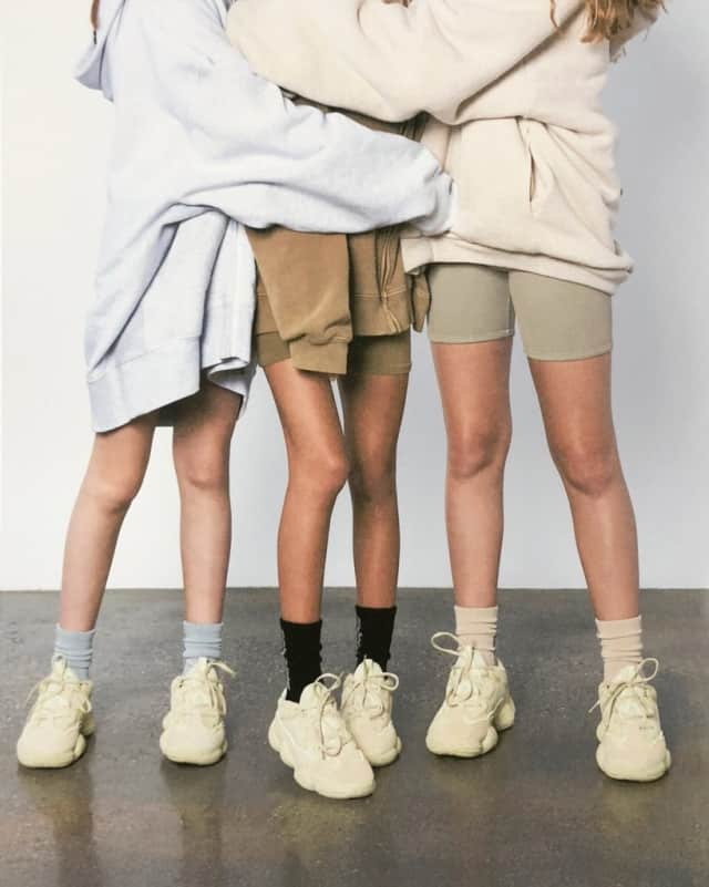 hot sale online ab614 c09d7 Kanye West shares new Yeezy 500 campaign photos via Twitter ...