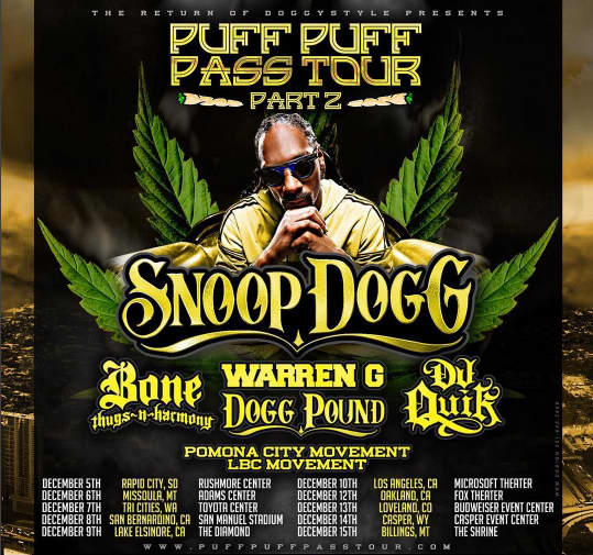 Snoop Dogg Announces Tour With Bone Thugs-N-Harmony, Warren