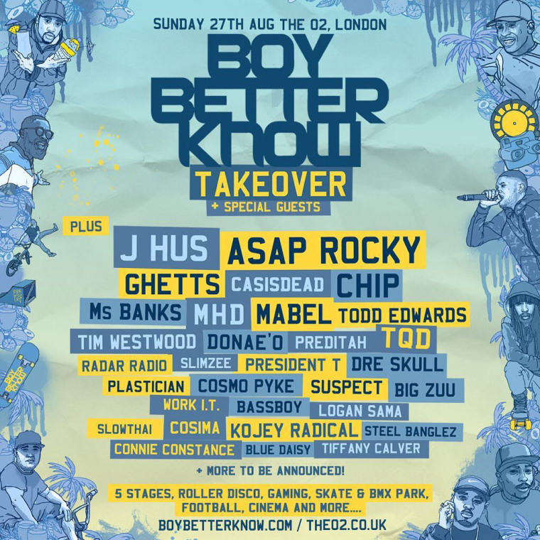J Hus And A$AP Rocky Join The Line-Up For BBK's London Festival