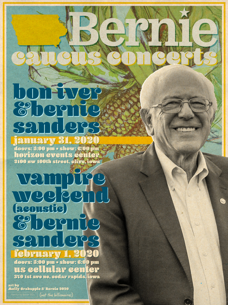 Bon Iver and Vampire Weekend to play free Iowa rallies for Bernie Sanders
