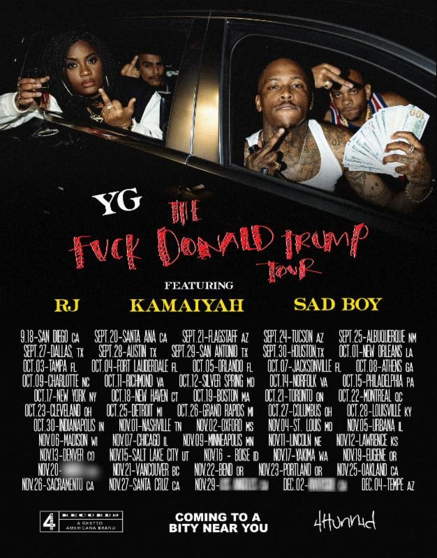 YG Announces Fuck Donald Trump Tour Dates