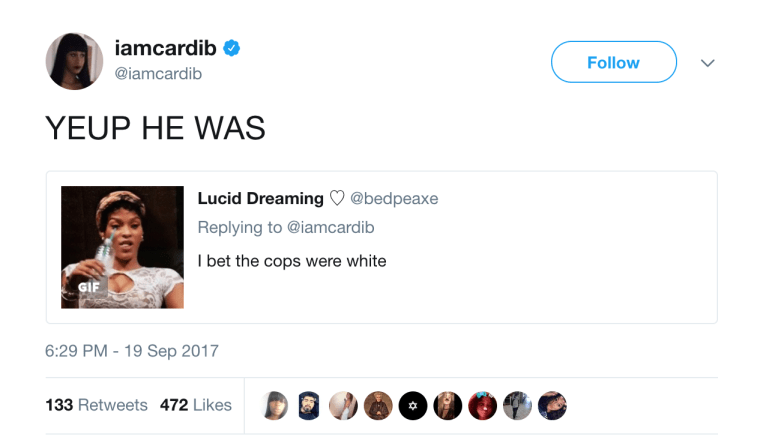 Cardi B Says Cops Put Her In A Chokehold