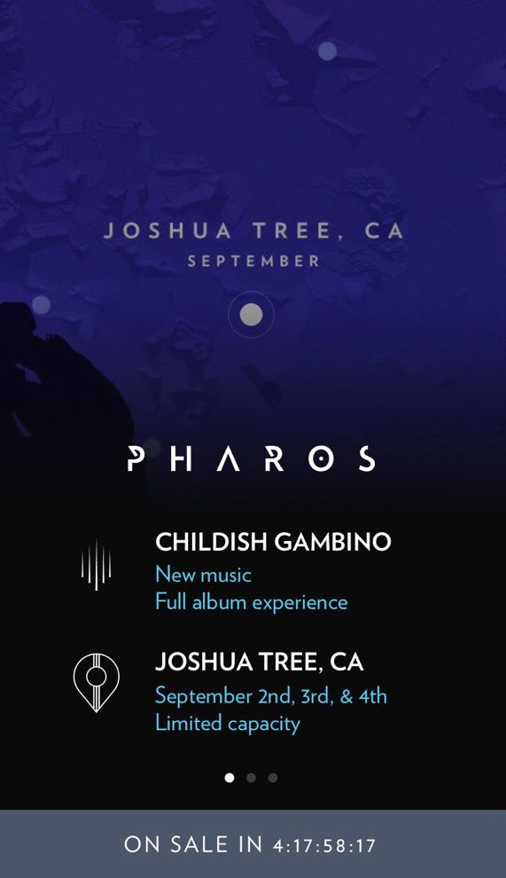 Childish Gambino To Debut New Album Through Series Of Show Dates