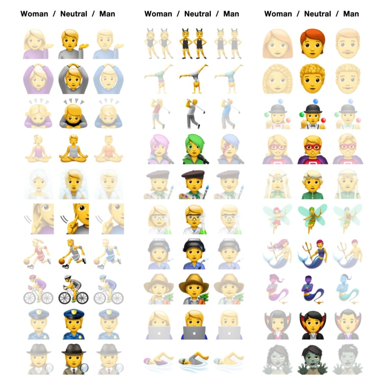 Apple introduces gender neutral emojis for iOS 13.2