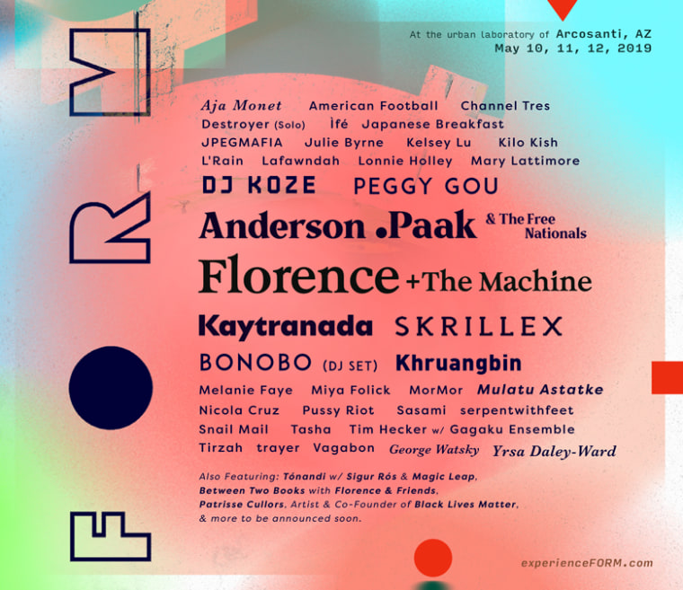 Florence + The Machine, Anderson. Paak, and Kaytranada lead FORM Arcosanti line-up
