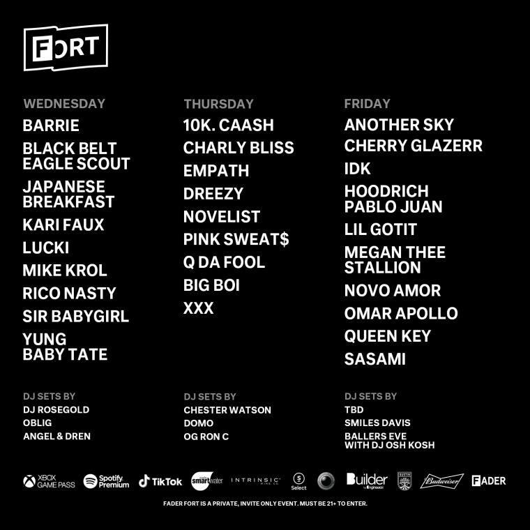 Check Out The Full The FADER FORT 2019 Lineup