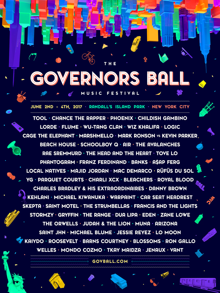 Chance The Rapper, Childish Gambino, Tool, And Phoenix Lead The Governors Ball 2017 Line-Up