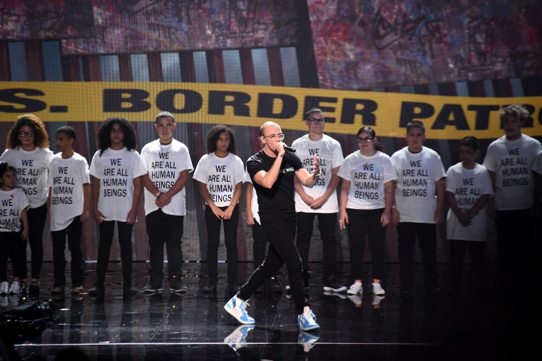 Logic puts immigrant families center stage at VMAs