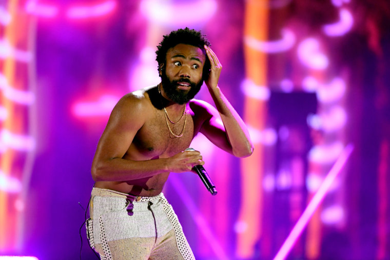 Donald Glover now has a bleached beard and also a digitally augmented doppelganger
