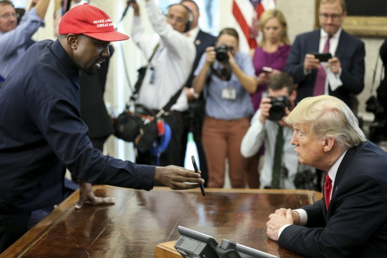 "Kanye West says Hillary Clinton's ""I'm With Her"" slogan alienated him ""as a guy"" during White House meeting"