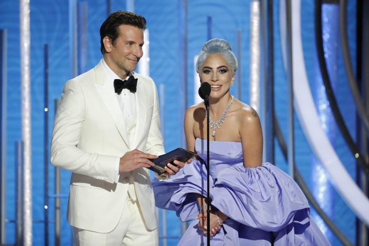 "Lady Gaga and Mark Ronson just won a Golden Globe for ""Shallow"""