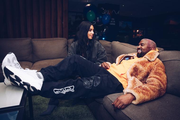 Watch Kanye West and 112 serenade Kim Kardashian via FaceTime