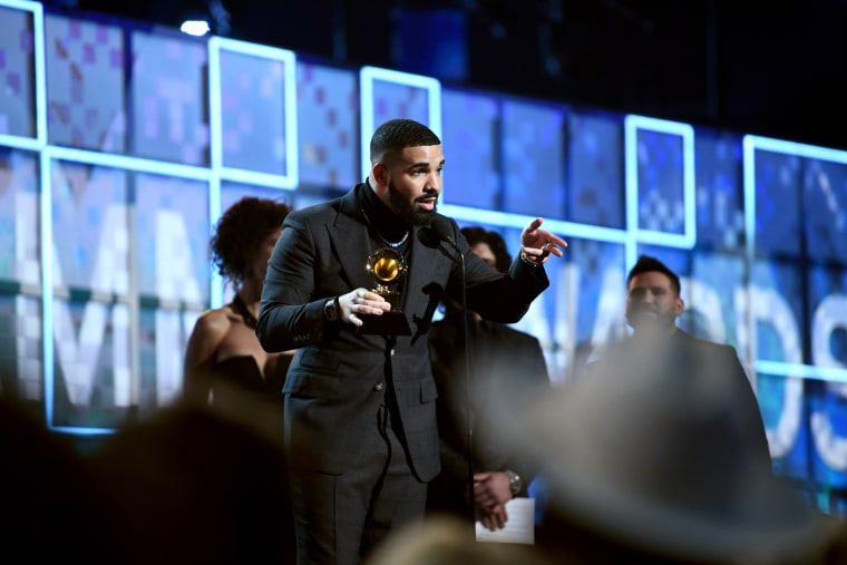 "Grammys rep claims Drake was cut off due to a ""natural pause"""