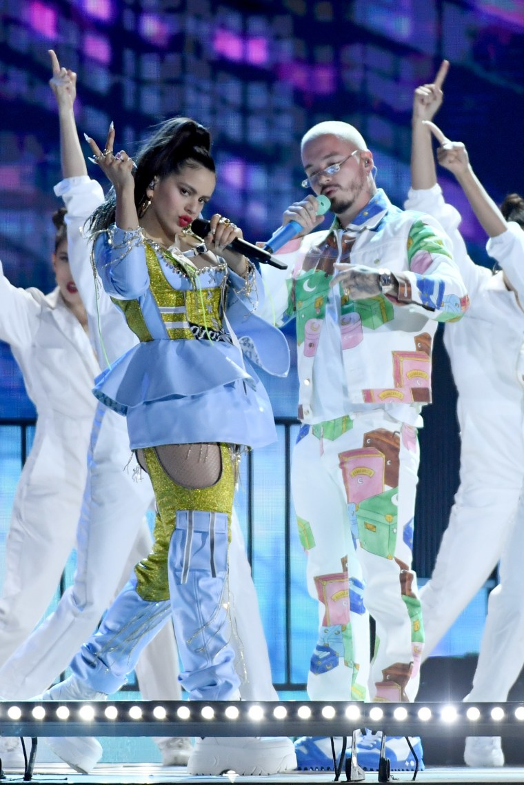 "Watch J Balvin, Rosalía & El Guincho perform ""Con Altura"" at the Latin Billboard Awards"