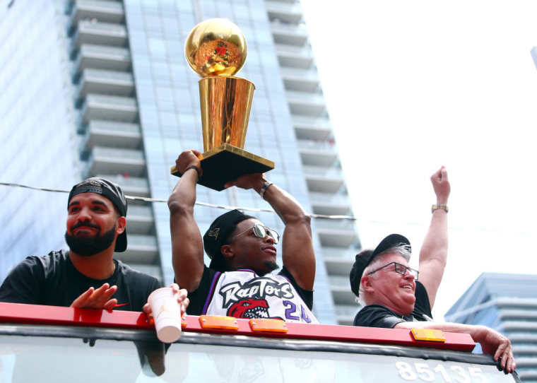 Drake chugged a beer, confirmed return of OVO Fest at Raptors Championship Parade