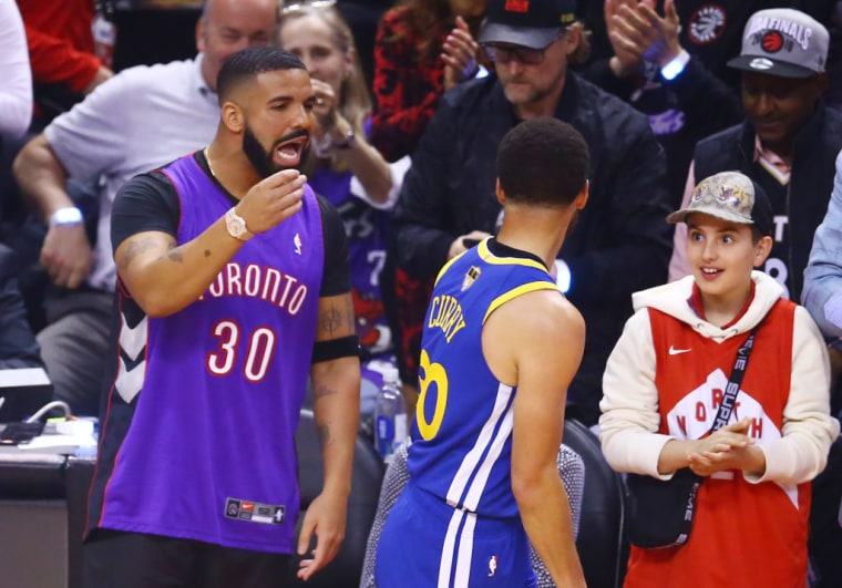 Drake was the center of attention during Game 1 of the NBA Finals