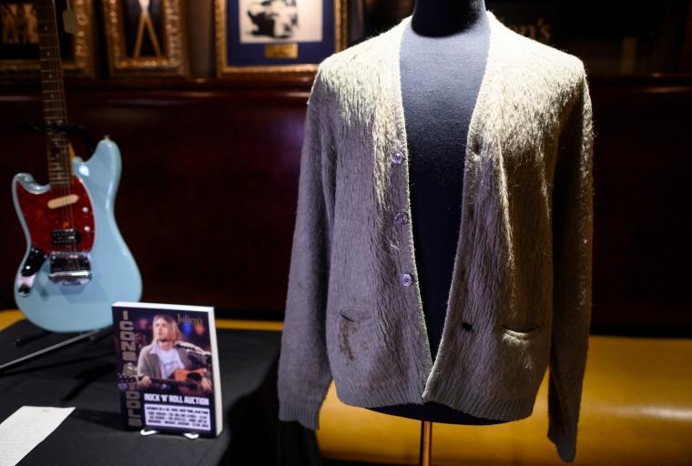 Kurt Cobain's <i>MTV Unplugged</i> cardigan sold for $334,000