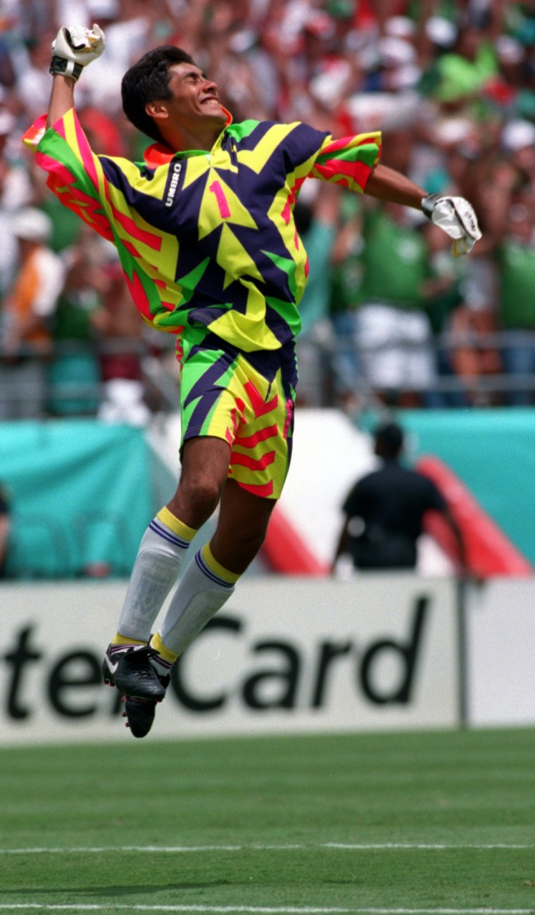 Jorge Campos had the tightest goalie jerseys soccer's ever seen