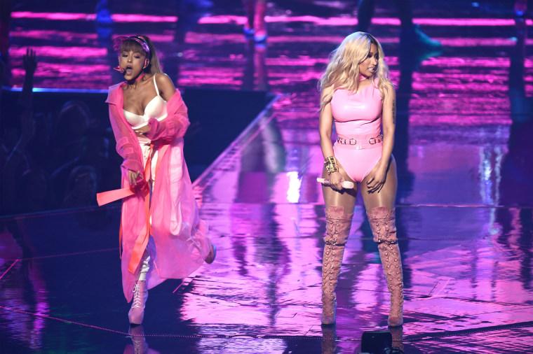 Ariana Grande teased new collab with Nicki Minaj on Twitter
